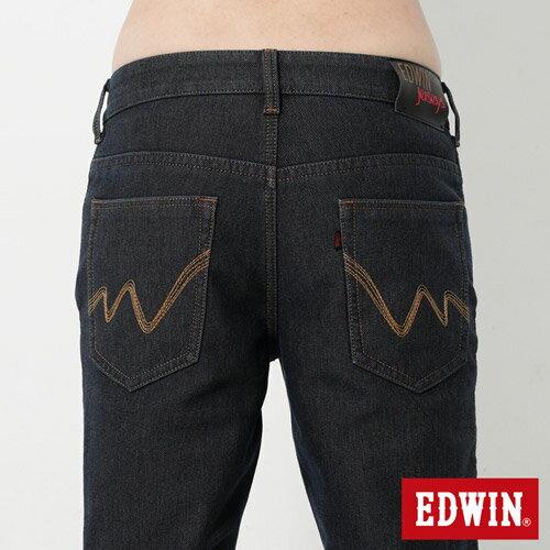 【過年加碼。2件再9折優惠↘】【大尺碼】EDWIN JERSEYS 迦績內層格紋保溫AB褲-男款 原藍磨 4