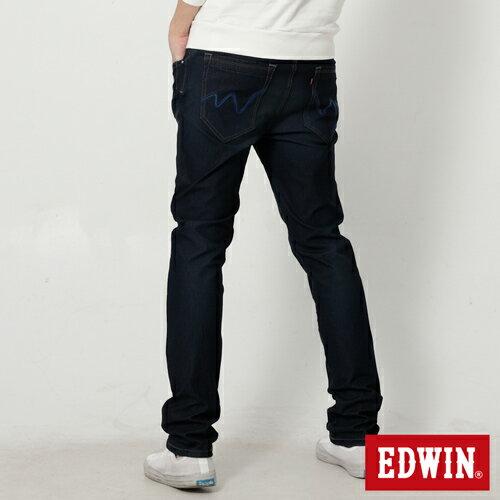 【過年加碼。2件再9折優惠↘】EDWIN JERSEYS 迦績漸層袋花窄直筒牛仔褲-男款 原藍磨 1