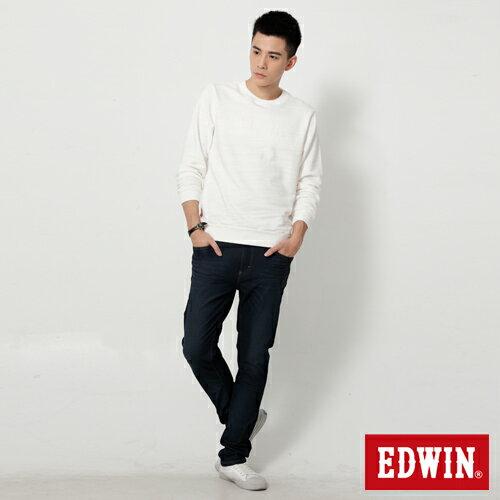 【過年加碼。2件再9折優惠↘】EDWIN JERSEYS 迦績漸層袋花窄直筒牛仔褲-男款 原藍磨 2