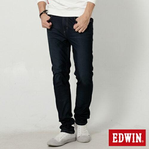 【過年加碼。2件再9折優惠↘】EDWIN JERSEYS 迦績漸層袋花窄直筒牛仔褲-男款 原藍磨 0