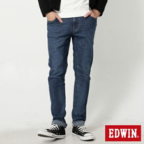 【4月丹寧主打。迦績褲2件以上再9折↘】EDWIN JERSEYS 迦績漸層袋花窄直筒牛仔褲-男款 石洗綠【單件購買可使用優惠券EDWIN200-2。再折200】 0