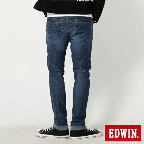 【4月丹寧主打。迦績褲2件以上再9折↘】EDWIN JERSEYS 迦績漸層袋花窄直筒牛仔褲-男款 石洗綠【單件購買可使用優惠券EDWIN200-2。再折200】 1