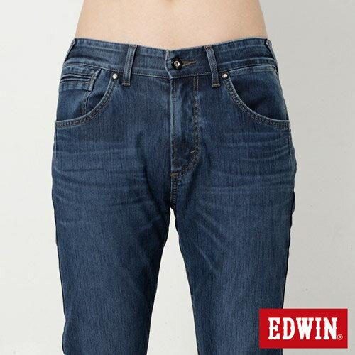 【4月丹寧主打。迦績褲2件以上再9折↘】EDWIN JERSEYS 迦績漸層袋花窄直筒牛仔褲-男款 石洗綠【單件購買可使用優惠券EDWIN200-2。再折200】 3