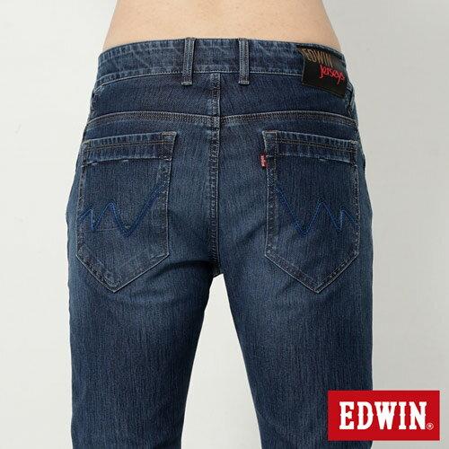 【4月丹寧主打。迦績褲2件以上再9折↘】EDWIN JERSEYS 迦績漸層袋花窄直筒牛仔褲-男款 石洗綠【單件購買可使用優惠券EDWIN200-2。再折200】 4