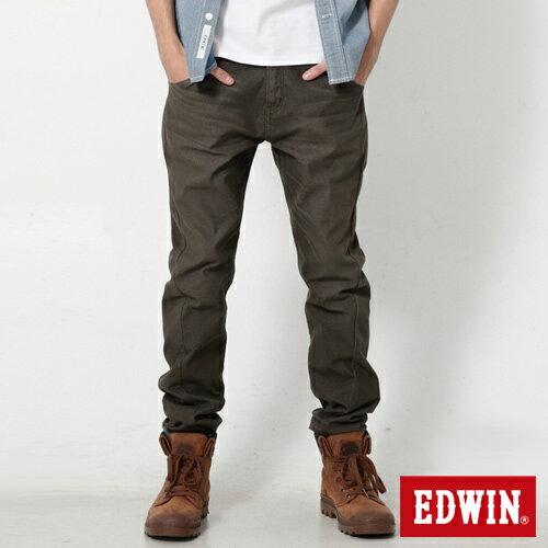 【9折優惠↘】EDWIN JERSEYS x E-F 迦績磨毛窄直筒色褲-男款 橄欖綠【單筆888輸入代碼fashion2228-2折100元↘單筆999點數13倍↘再抽2萬里程數↘】 0