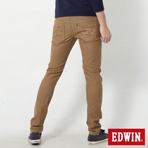 【過年加碼。2件再9折優惠↘】EDWIN JERSEYS x E-F 迦績磨毛窄直筒色褲-男款 卡其 1