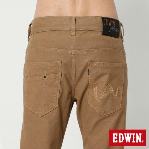 【過年加碼。2件再9折優惠↘】EDWIN JERSEYS x E-F 迦績磨毛窄直筒色褲-男款 卡其 4