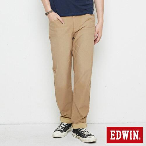 【新品上市↘】EDWIN JERSEYS 迦績 車織帶AB牛仔褲-男款 淺卡其【APP下單滿799輸入代碼APP170625折100元↘序號限用一次↘】