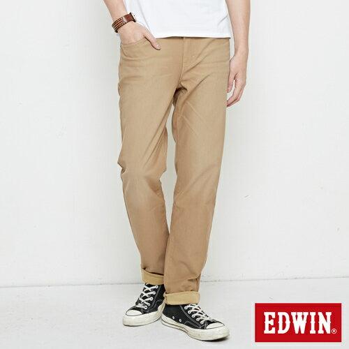 【新品上市↘】【大尺碼】EDWIN JERSEYS 迦績 車織帶AB牛仔褲-男款 淺卡其【APP下單滿799輸入代碼APP170625折100元↘序號限用一次↘】