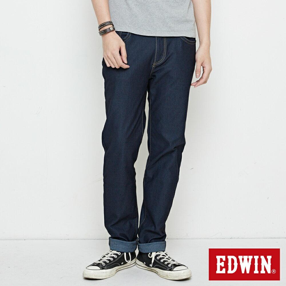 【APP領券9折】EDWIN JERSEYS 迦績 EJ3 中直筒牛仔褲-男款 原藍色