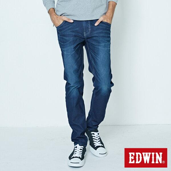 【新品上市↘】EDWINJERSEYS迦績紅邊繡花AB牛仔褲-男款原藍磨【7月會員神券APP結帳