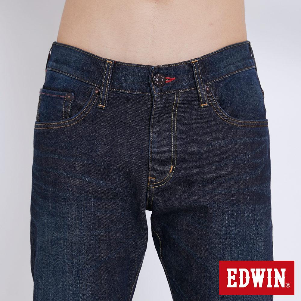 新品↘EDWIN EDGE LINE 大尺碼 順向複刻版 中直筒牛仔褲 (紅色袋花)-男款 中古藍 STRAIGHT 5