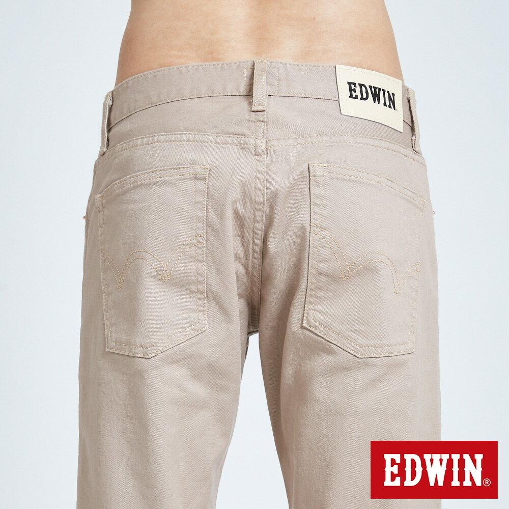 新品↘EDWIN 503 BASIC 基本純色 AB休閒褲-男款 淺卡其 TAPERED 7