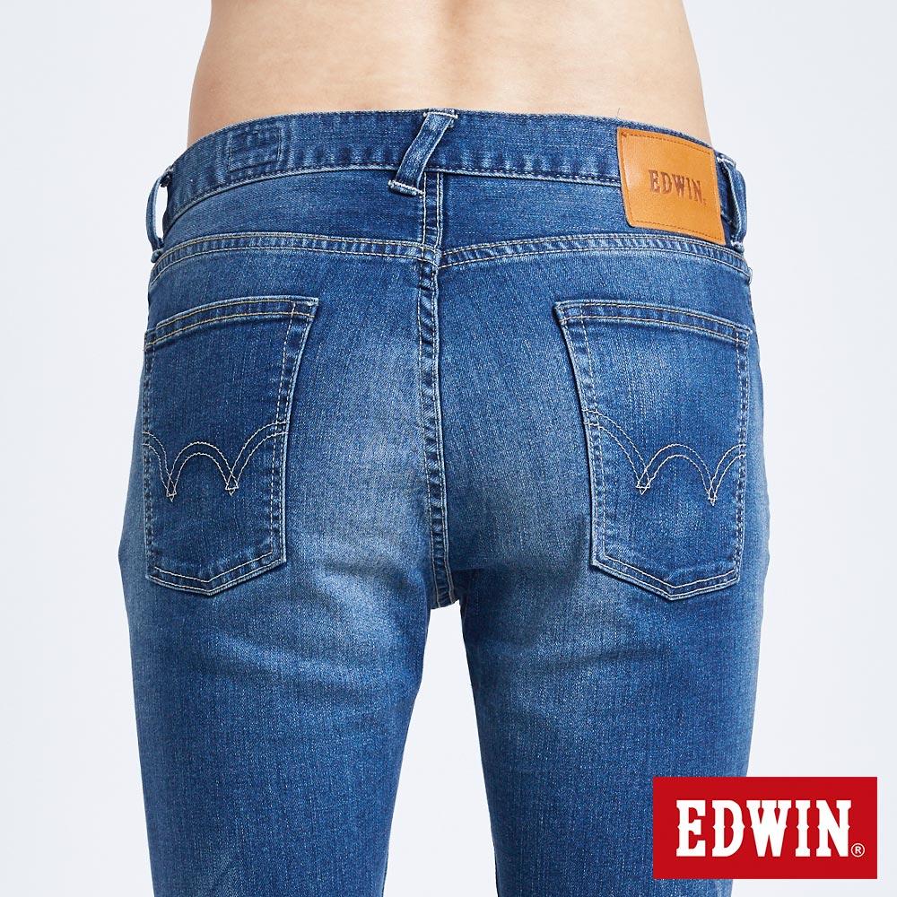 新品↘EDWIN 503 BASIC 大尺碼 輕量涼感 窄直筒牛仔褲-男款 石洗藍【天天消費滿1200→12 / 13憑券序號12S120L再折120元】 6