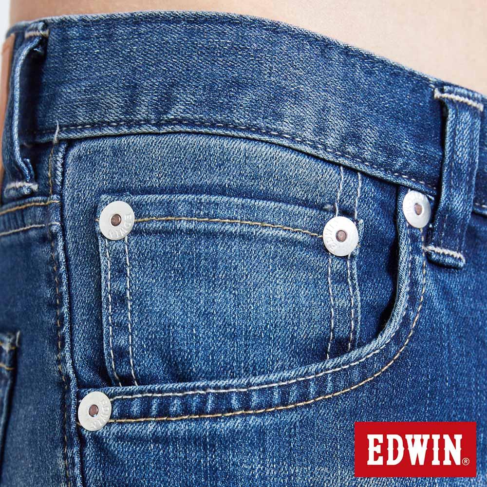 新品↘EDWIN 503 BASIC 大尺碼 輕量涼感 窄直筒牛仔褲-男款 石洗藍【天天消費滿1200→12 / 13憑券序號12S120L再折120元】 8