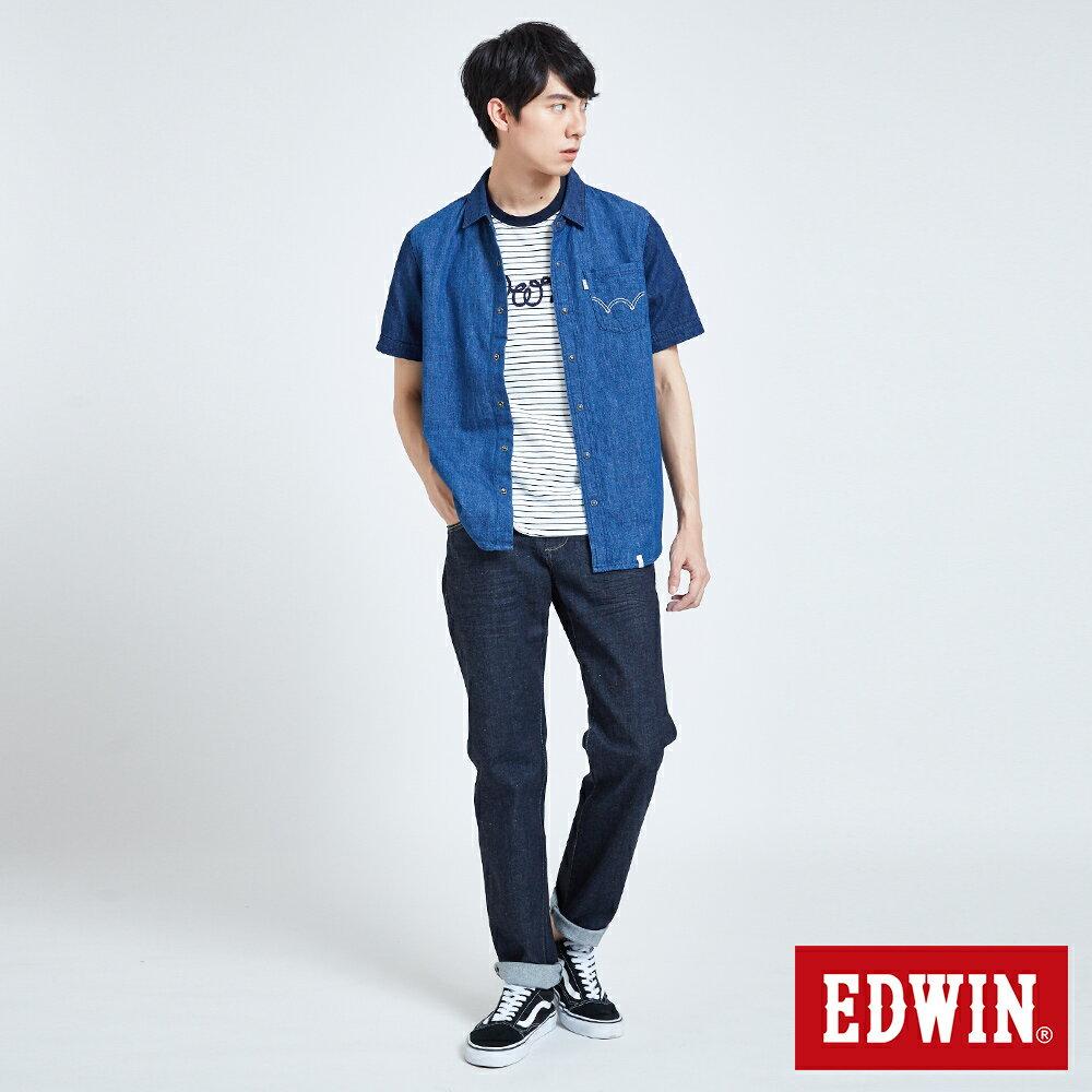 新品↘EDWIN 503 BASIC 基本五袋式 中直筒牛仔褲-男款 原藍色 STRAIGHT 5