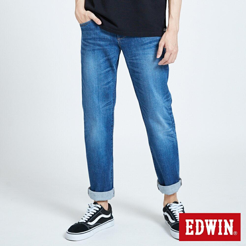 新品↘EDWIN 503 BASIC 基本五袋式 中直筒牛仔褲-男款 石洗藍 STRAIGHT 0