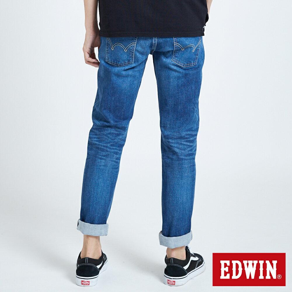 新品↘EDWIN 503 BASIC 基本五袋式 中直筒牛仔褲-男款 石洗藍 STRAIGHT 2