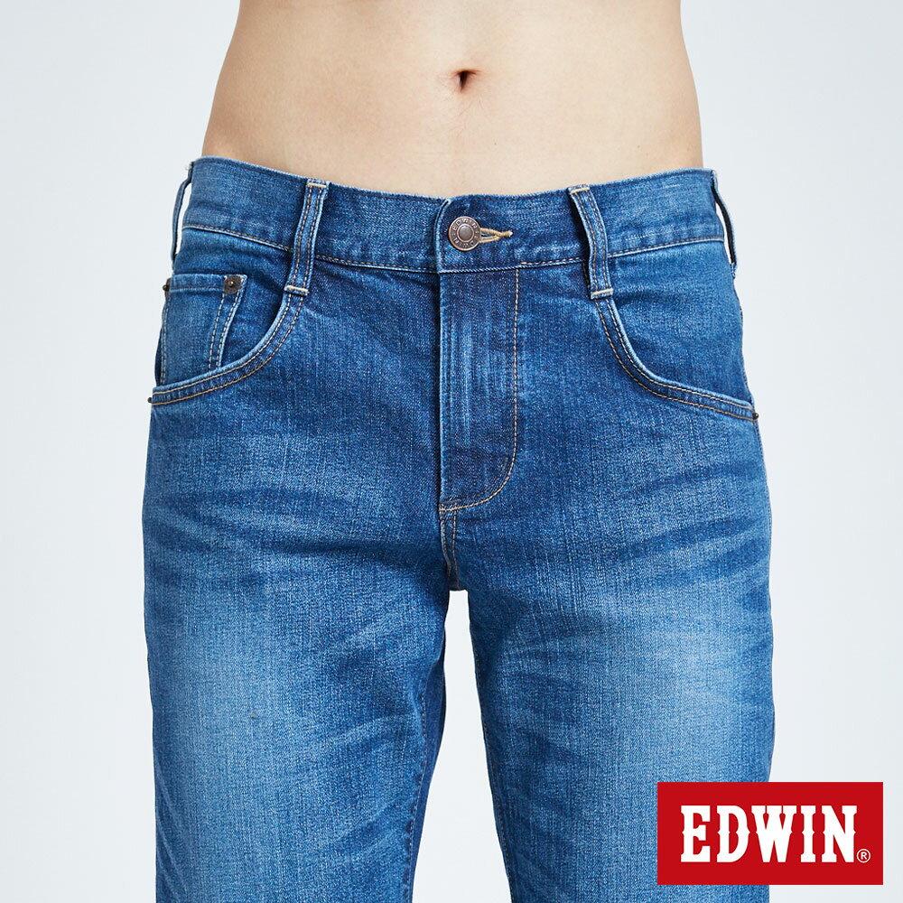 新品↘EDWIN 503 BASIC 基本五袋式 中直筒牛仔褲-男款 石洗藍 STRAIGHT 6