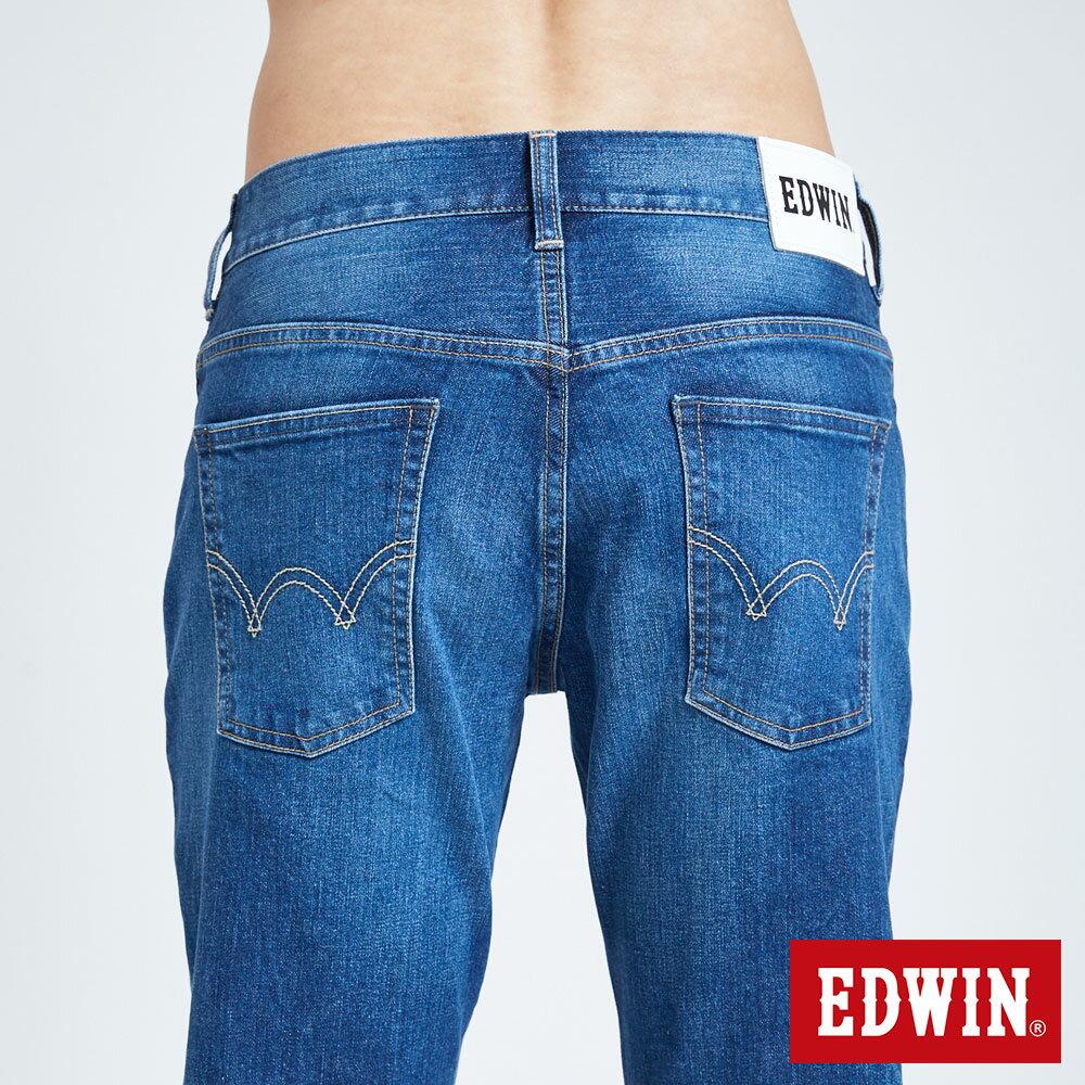 新品↘EDWIN 503 BASIC 基本五袋式 中直筒牛仔褲-男款 石洗藍 STRAIGHT 7