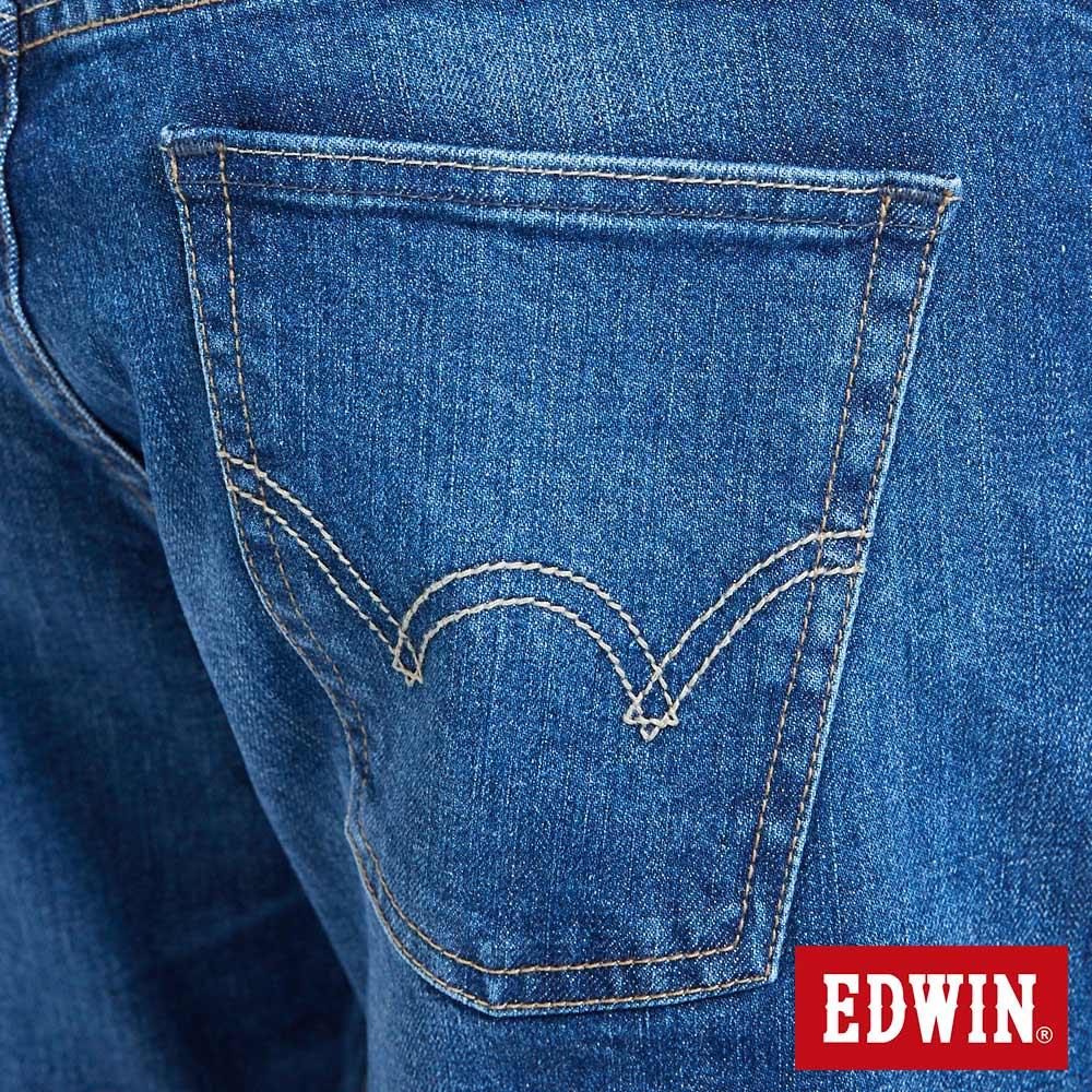 新品↘EDWIN 503 BASIC 基本五袋式 中直筒牛仔褲-男款 石洗藍 STRAIGHT 9
