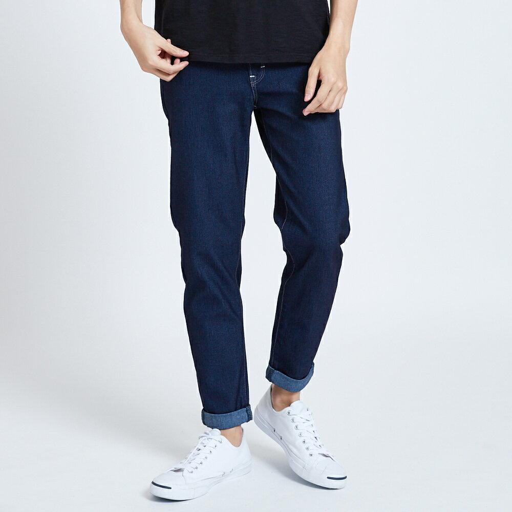 新品↘EDWIN JERSEYS 迦績 MED系列不對稱 AB牛仔褲-男款 原藍磨 TAPERED 1