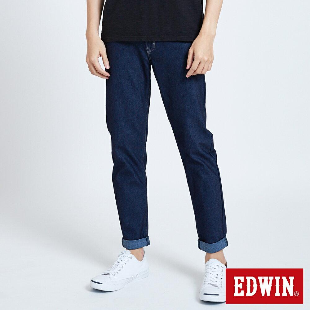 新品↘EDWIN JERSEYS 迦績 MED系列不對稱 AB牛仔褲-男款 原藍磨 TAPERED 0