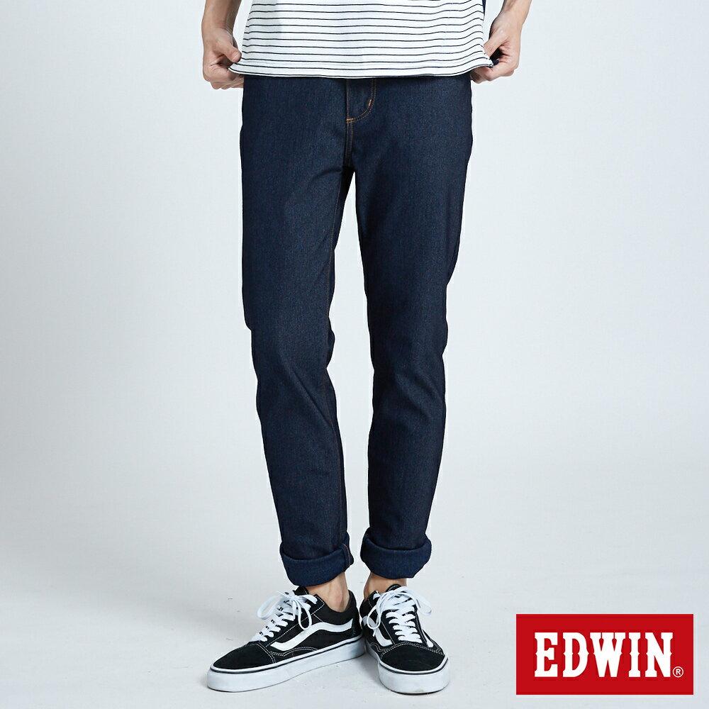 【APP領券9折】EDWIN JERSEYS 迦績 PK激瘦涼感低腰 窄直筒牛仔褲-男款 原藍色 SLIM 走路有風