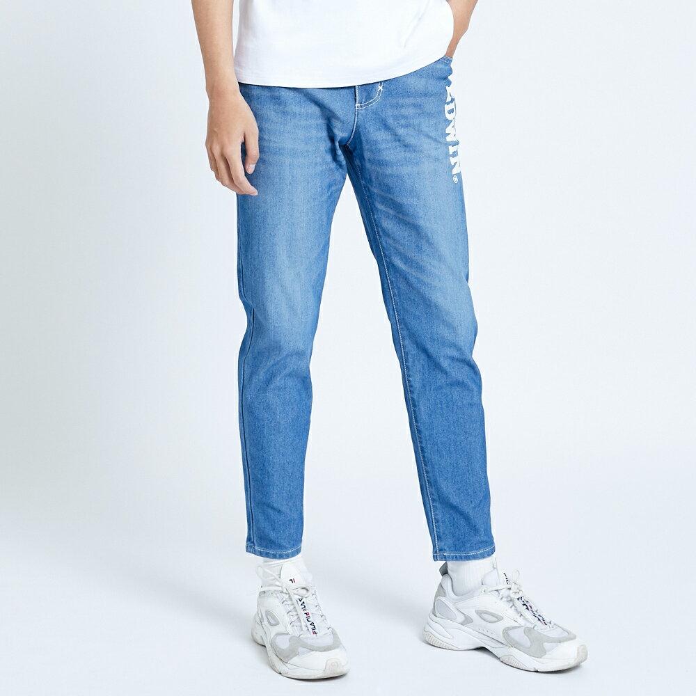 新品↘EDWIN JERSEYS 迦績 EJ6 運動透氣中低腰AB牛仔褲-男款 拔洗藍 TAPERED 目錄主打款 1