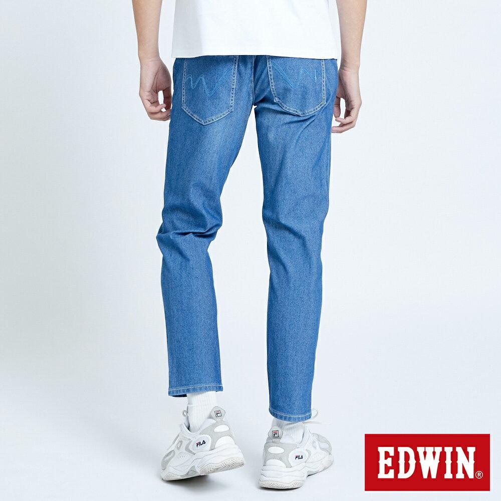 新品↘EDWIN JERSEYS 迦績 EJ6 運動透氣中低腰AB牛仔褲-男款 拔洗藍 TAPERED 目錄主打款 2