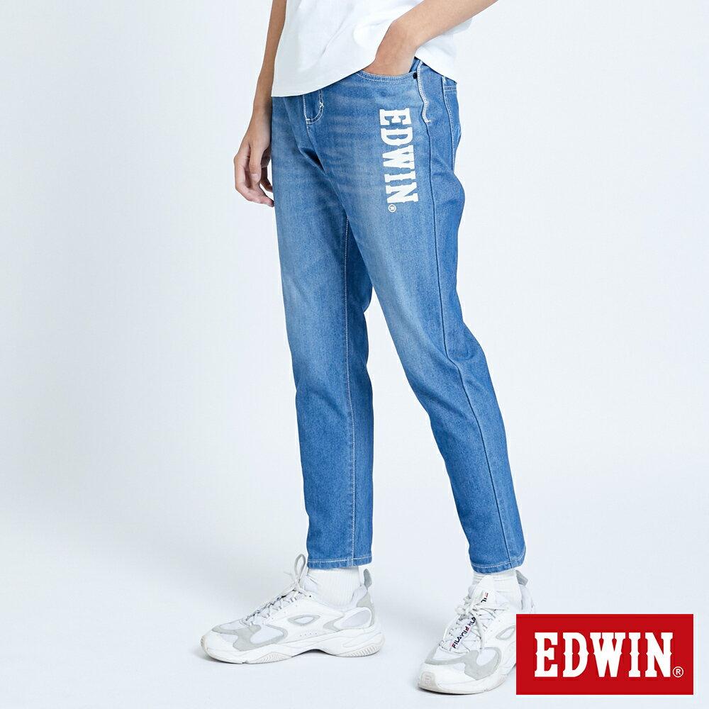 新品↘EDWIN JERSEYS 迦績 EJ6 運動透氣中低腰AB牛仔褲-男款 拔洗藍 TAPERED 目錄主打款 3
