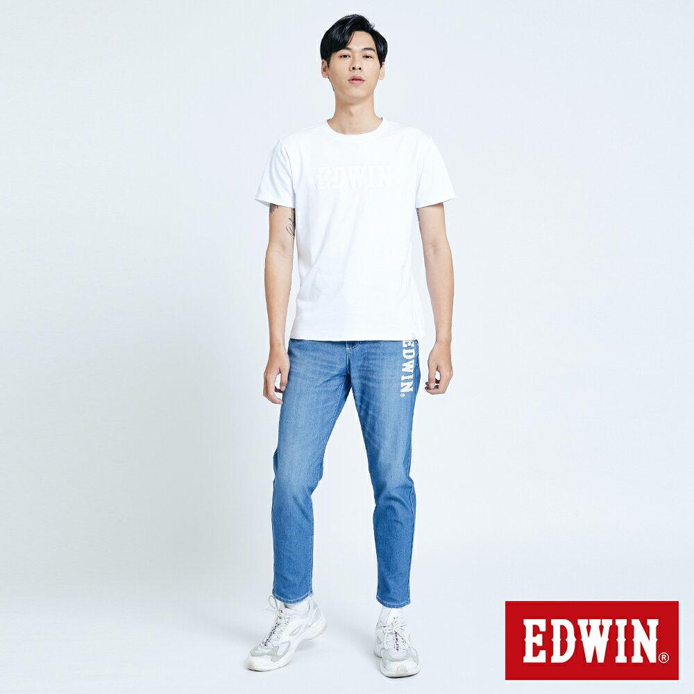 新品↘EDWIN JERSEYS 迦績 EJ6 運動透氣中低腰AB牛仔褲-男款 拔洗藍 TAPERED 目錄主打款 4