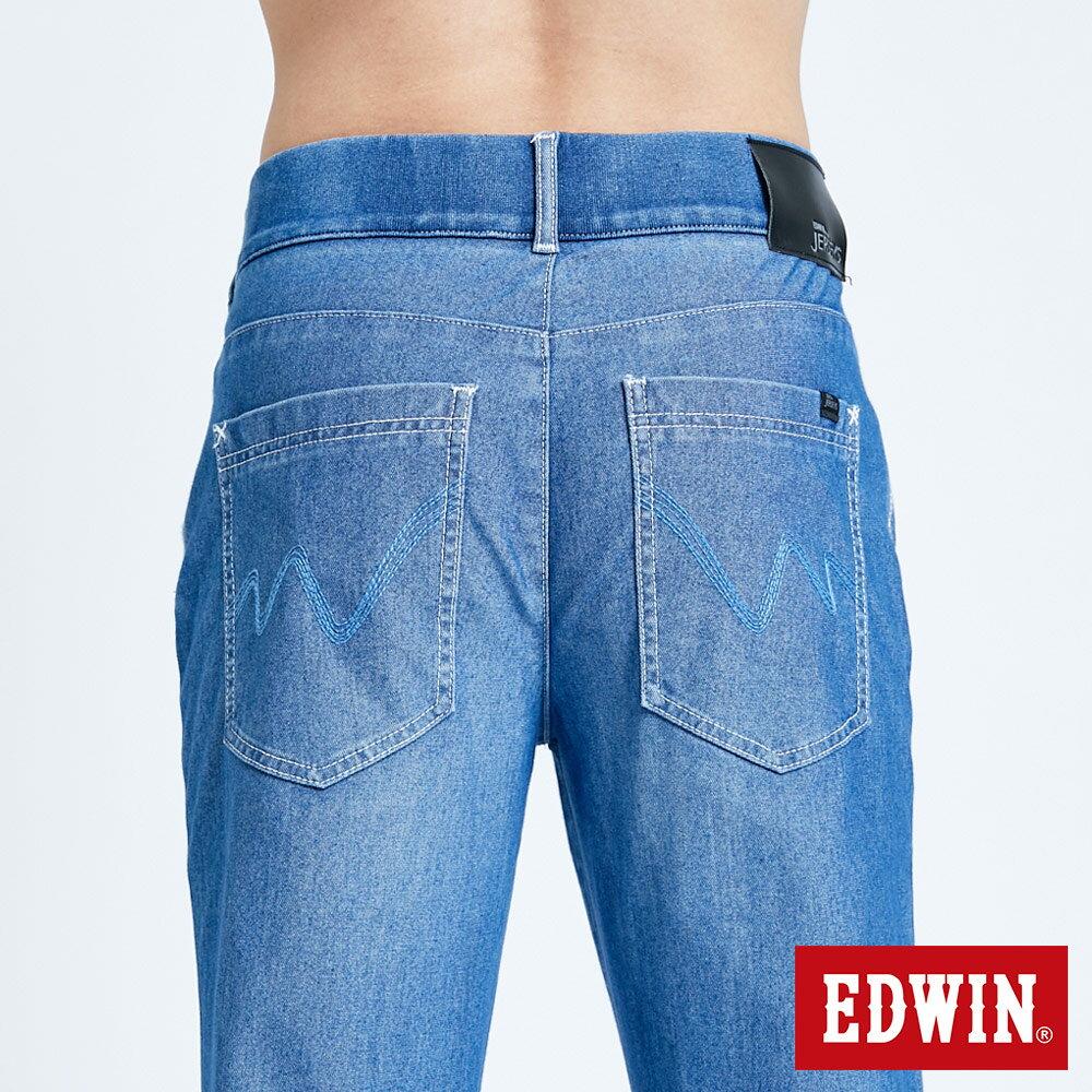 新品↘EDWIN JERSEYS 迦績 EJ6 運動透氣中低腰AB牛仔褲-男款 拔洗藍 TAPERED 目錄主打款 6