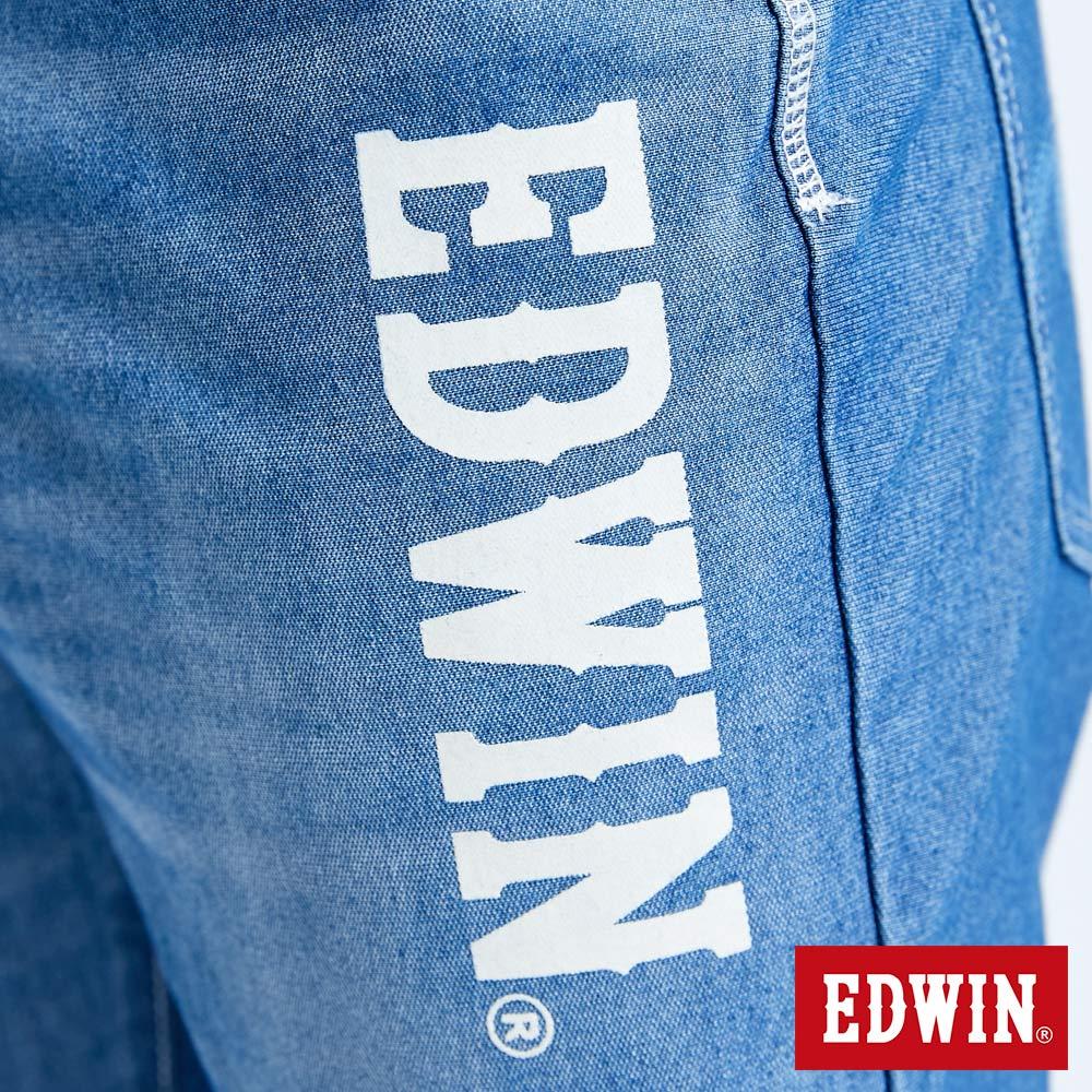 新品↘EDWIN JERSEYS 迦績 EJ6 運動透氣中低腰AB牛仔褲-男款 拔洗藍 TAPERED 目錄主打款 8