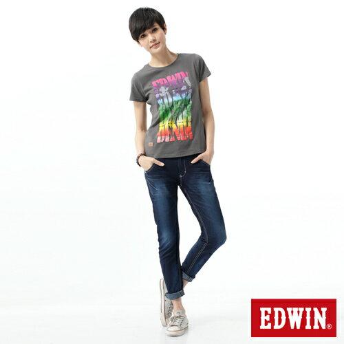 【2000元優惠↘】EDWIN 503 JERSEYS迦績立體剪裁牛仔褲-女款 原藍磨 2