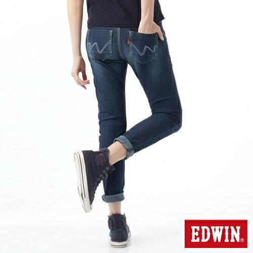 【換季最終波。任2件再9折優惠↘】Miss EDWIN  503 JERSEYS迦績立體剪裁牛仔褲-女款 石洗綠 0