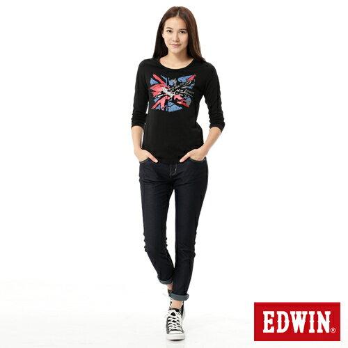 【換季最終波。任2件再9折優惠↘】Miss EDWIN JERSEYS x B.T皮綁繩窄直筒牛仔褲-女款 原藍色 2