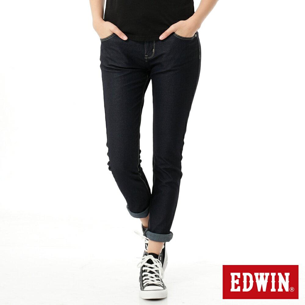 【2000元優惠↘】Miss EDWIN JERSEYS x B.T 迦績 皮綁繩窄直筒牛仔褲-女款 原藍色 0