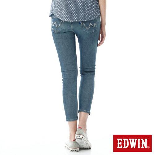 【過年加碼。2件再9折優惠↘】EDWIN JERSEYS迦績酷涼PK 九分牛仔褲-女-石洗藍 1