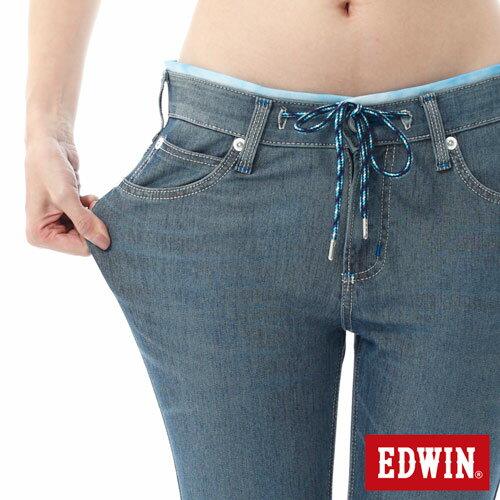 【過年加碼。2件再9折優惠↘】EDWIN JERSEYS迦績酷涼PK 九分牛仔褲-女-石洗藍 3