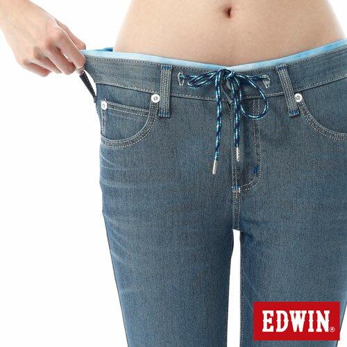 【過年加碼。2件再9折優惠↘】EDWIN JERSEYS迦績酷涼PK 九分牛仔褲-女-石洗藍 4