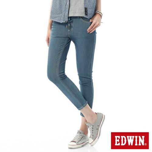 【過年加碼。2件再9折優惠↘】EDWIN JERSEYS迦績酷涼PK 九分牛仔褲-女-石洗藍 0