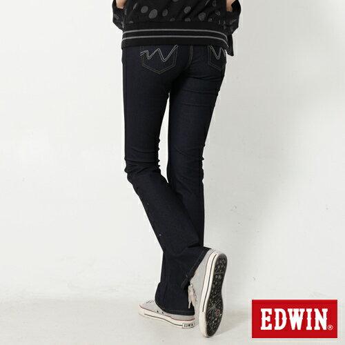 【2000元優惠↘】EDWIN JERSEYS迦績修身 靴型牛仔褲-女款 原藍色【結帳輸入序號 Nov-edwin再折200↘數量有限↘限用一次】 1