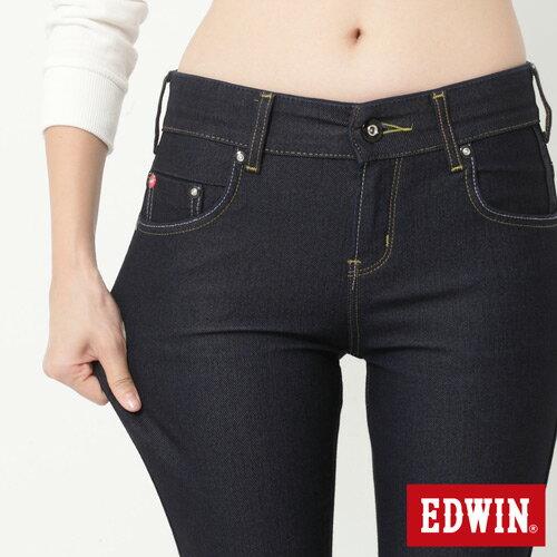 【2000元優惠↘】EDWIN JERSEYS迦績修身 靴型牛仔褲-女款 原藍色【結帳輸入序號 Nov-edwin再折200↘數量有限↘限用一次】 3