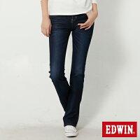 牛仔褲推薦到EDWIN JERSEYS 迦績 修身 靴型牛仔褲-女款 原藍磨 BOOTCUT 零碼就在EDWIN推薦牛仔褲