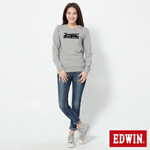 【換季最終波。任2件再9折優惠↘】Miss EDWIN JERSEYS x B.T迦績立體剪裁AB褲-女款 拔洗藍 2