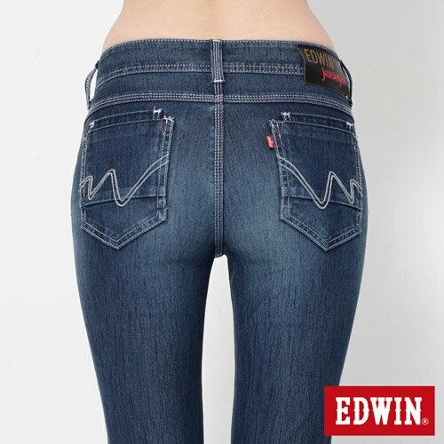 【換季最終波。任2件再9折優惠↘】Miss EDWIN JERSEYS x B.T迦績立體剪裁AB褲-女款 拔洗藍 4
