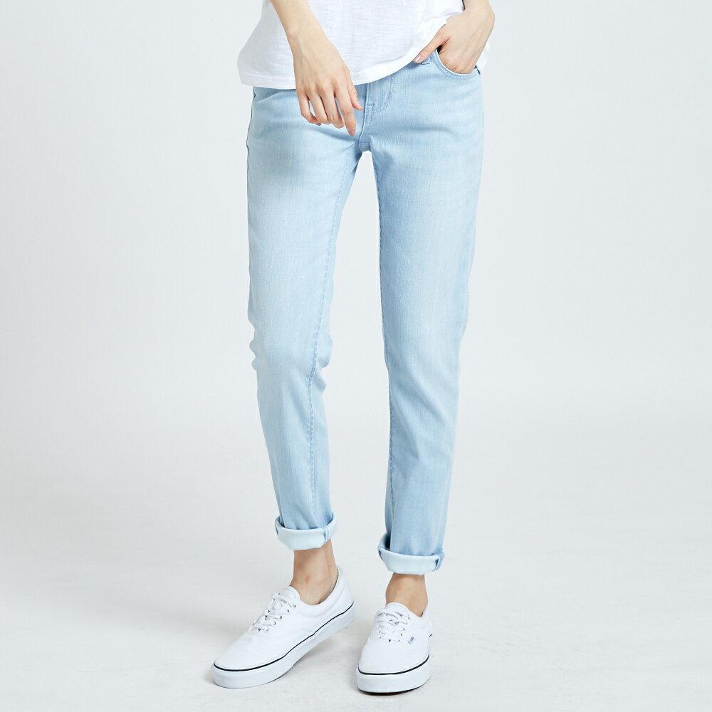 新品↘EDWIN MISS 涼感 清爽刷色 AB牛仔褲-女款 重漂藍 TAPERED 1