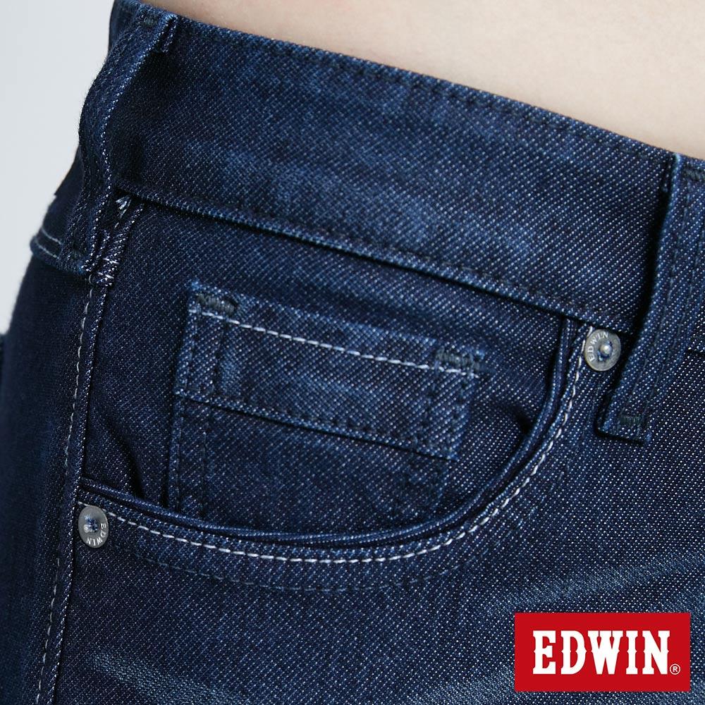 新品↘Miss EDWIN JERSEYS 迦績 PK EJ2透氣中腰合身 AB牛仔褲-女款 原藍磨 TAPERED 8