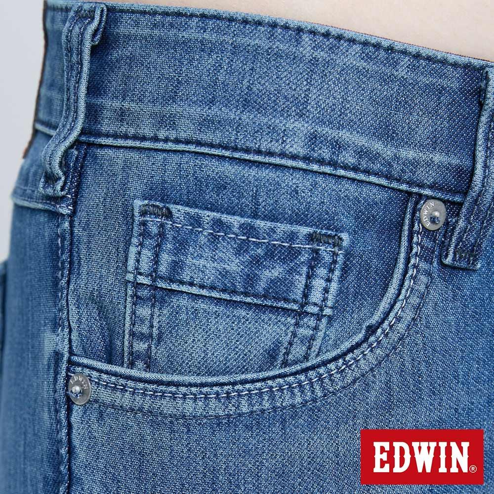 新品↘Miss EDWIN JERSEYS 迦績 PK EJ2透氣中腰合身 AB牛仔褲-女款 拔洗藍 TAPERED 8